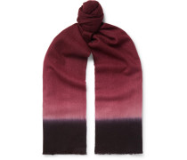Dégradé Cashmere Scarf - Red