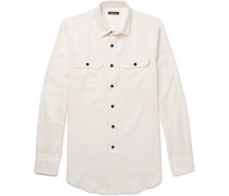 Cotton And Cashmere-blend Twill Shirt