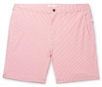 Calder Long-length Striped Stretch-seersucker Swim Shorts