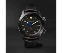 U-2/51-jet Automatic 43mm Stainless Steel And Leather Watch - Black
