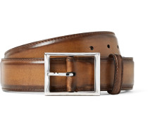 3.5cm Brown Classic Leather Belt