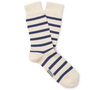 Striped Stretch-Cotton Blend Socks