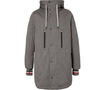 Faux Shearling-lined Cotton-blend Twill Down Coat
