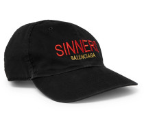 Sinners Embroidered Cotton-twill Baseball Cap