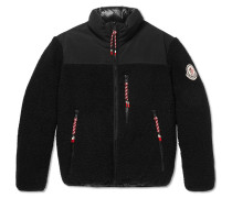 2 Moncler 1952 Brohan Reversible Fleece And Quilted Shell Down Jacket - Black