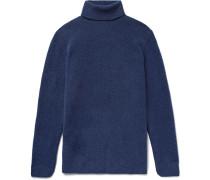 Aiden Slim-fit Mélange Merino Wool-blend Rollneck Sweater - Storm blue