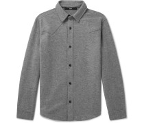 Oversized Mélange Wool and Cotton-Blend Overshirt