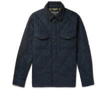 Hyder Quilted Waxed-cotton Primaloft Jacket - Navy