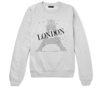 Oversized Printed Fleece-back Cotton-blend Jersey Sweatshirt
