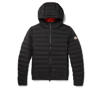 Dreux Quilted Shell Hooded Down Jacket - Black