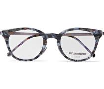 Round-frame Tortoiseshell Acetate Optical Glasses - Blue