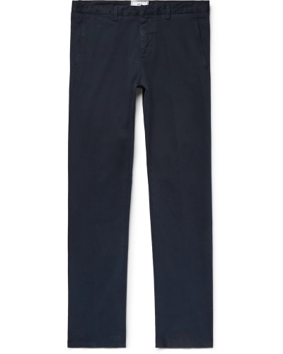 Slim-fit Stretch Cotton-twill Chinos - Navy