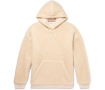 Logo-embroidered Fleece Hoodie - Neutral