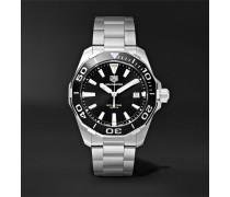Aquaracer Quartz 41mm Steel Watch - Black