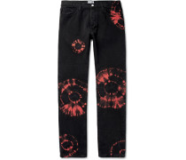 Slim-Fit Tie-Dyed Denim Jeans