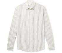 Initial Striped Crepe Shirt