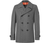 Duran Double-breasted Virgin Wool-blend Overcoat - Gray