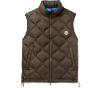 Allemont Quilted Shell Down Gilet - Army green