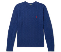 Cable-knit Merino Wool And Cashmere-blend Sweater