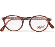 Round-frame Tortoiseshell Acetate And Gold-tone Optical Glasses - Tortoiseshell