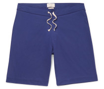 Alroy Striped Cotton-Jersey Shorts