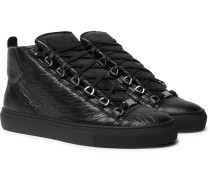 Arena Creased-leather Sneakers