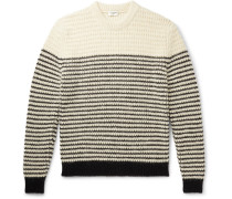 Slim-Fit Striped Knitted Sweater