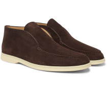Summer Walk Suede Loafers - Tan
