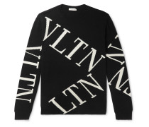 Slim-Fit Intarsia Wool and Cashmere-Blend Sweater
