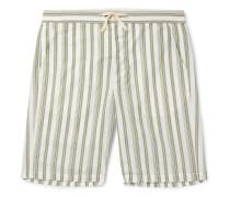 Striped Organic Cotton Drawstring Pyjama Shorts