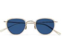 D-Frame Tortoiseshell Acetate and Metal Sunglasses