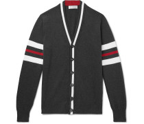 Slim-Fit Striped Cotton Cardigan