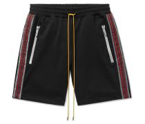 Webbing-Trimmed Stretch-Jersey Shorts