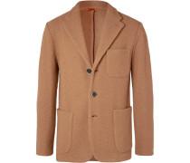 Camel Slim-Fit Unstructured Virgin Wool-Bouclé Blazer