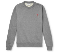 Logo-Appliquéd Loopback Cotton-Jersey Sweatshirt