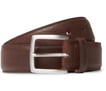 3.5cm Brown 1786 Russian Hide Vegetable-tanned Cross-grain Leather Belt - Brown