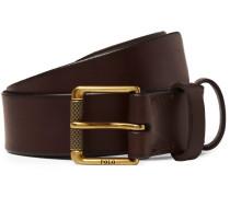 3cm Dark-brown Leather Belt - Brown