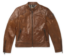 Outlaw Leather Biker Jacket - Brown
