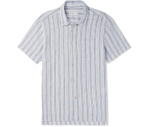 Striped Organic Cotton And Linen-blend Shirt