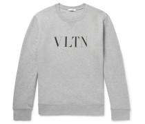 Logo-print Loopback Cotton-blend Jersey Sweatshirt