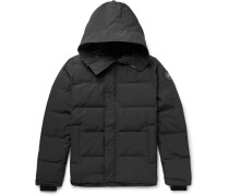 Macmillan Slim-fit Quilted Shell Hooded Down Parka - Black