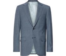 Storm-blue Slim-fit Wool Suit Jacket - Storm blue