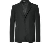 Slim-fit Cotton Blazer - Black