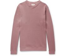 Robin Stretch Cotton-blend Piqué Sweatshirt - Pink