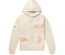 Appliquéd Fleece-back Cotton-jersey Hoodie - Cream