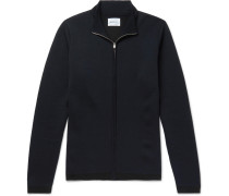 Fjord Coolmax And Merino Wool-blend Zip-up Sweater