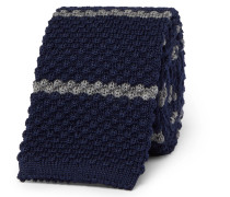 6cm Striped Knitted Wool Tie
