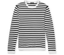 Roldans Slim-fit Striped Cotton-blend Sweater