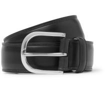 3.5cm Black Leather Belt