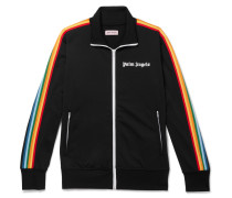 Logo-print Striped Tech-jersey Track Jacket